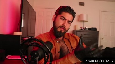Male Leather Domination ASMR Custom Video Sample - Hairy Chest, Deep Voice