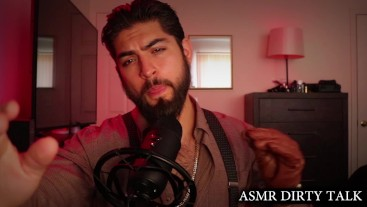 ASMR Bearded Hot Dabber Man In Suspenders & Leather Gloves Giving Kisses