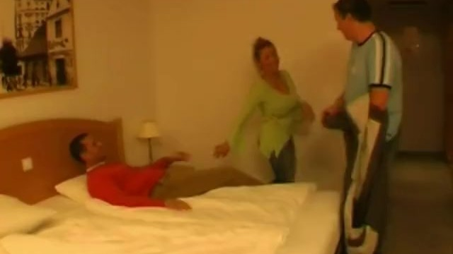3some For Chubby Blonde Dutch MILF 4