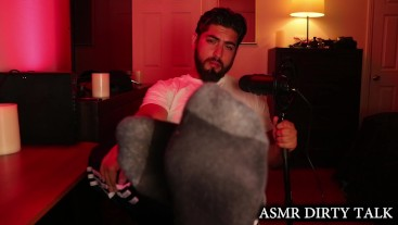 Male Dirty Talking Feet Fetish Custom Video Ft. Handsome Bearded Hunk
