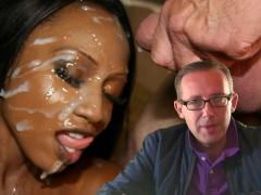 Ebony Bukkake Facial Cumshot Porn Extreme with Milf Diamond Jackson