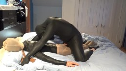 orca predator plays with his pantyhosed dummy