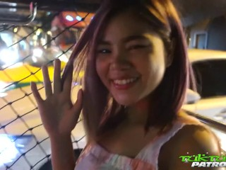 Beautiful young Thai hooker picked up off the street and creamed!
