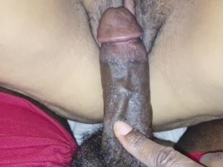 Fingers pussy before taking bbc...