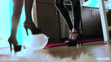 DOUBLE DOMME: Balloon BUSTING - Dirty Talk & more for My loser looners!