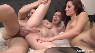 French threesome fuck
