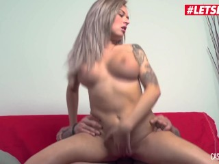 LETSDOEIT - French Teen Rose Has Rough Sex On The Casting Couch