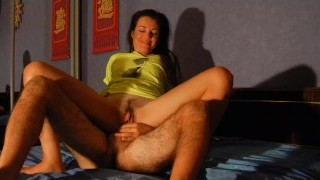 My First XXX Movie culminate with real orgasm in hotel room