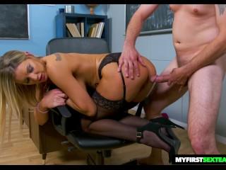 Naughty America Kenzie Taylor Fucks Her Virgin Student
