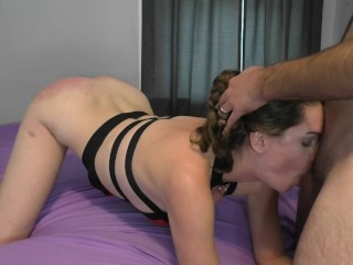 Rough Spanking and Throatfuck Punishment