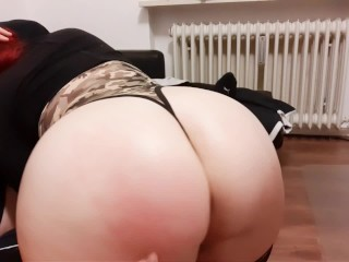 Redhead Cocksucker with big Tits and incredible huge Ass!