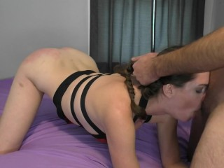 Rough Spanking and Throatfuck Punishment (Preview)