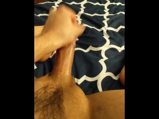 Close up on my cock while I jerk off and bust my nut