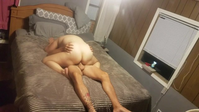 Thick BBW wife with Big Natural Titties Rides For A Creampie 1