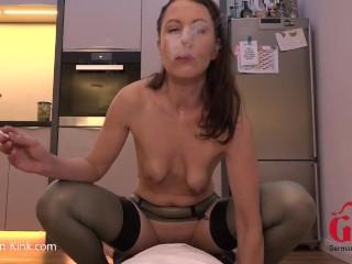 Smoke and Fuck in Latex Stockings