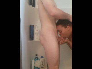 Horny couple take a shower, fuck hard and anale