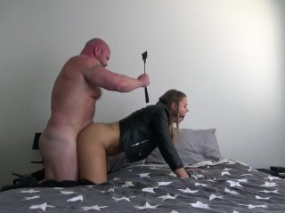 Leather Fetish BDSM Sex Session (Cam 2) -Dirty Julia