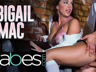 Babes – Big tit bad schoolgirl Abigail Mac seduces her big dick professor