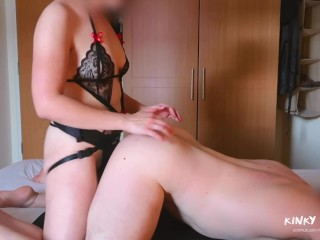 INTENSE PEGGING BY AMATEUR GIRL – intimate strapon fucking