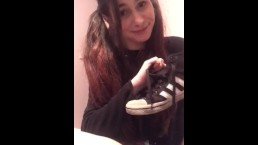 Roleplay: Young cute petite girlfriend wants you to smell her stinky feet x