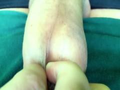 Bad boy´s cock sounding outdoor - visible movements inside urethra