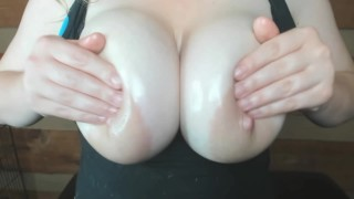 JOI cum on my natural tits