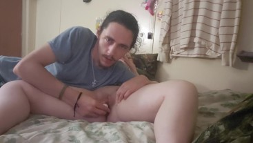 Getting fucked with dildo