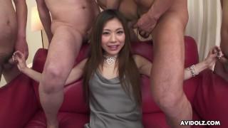 Japanese cock teaser, Aya Sugiura is having some fun, uncensored
