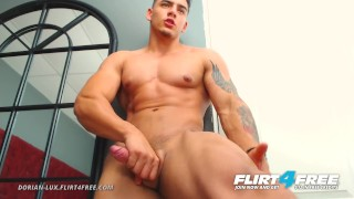 Dorian Lux on Flirt4Free - Perfect Athletic Latino Jerks His Big Tasty Cock