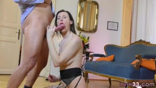 Bent over UK milf getting doggystyled