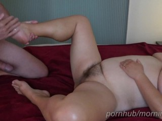 Bbw wife gets a oily gets fucked i...