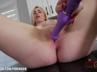 Cute blonde Casey Ballerini digs into tight pussy
