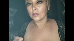 Horny Latina Smoking in the Truck while it Rained