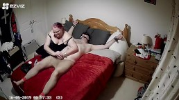 Tied to bed in tights with cbt and post orgasm torture - part 2