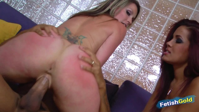 Two naughty lesbian step sisters share a big black cock 3
