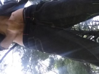 At the park off the nature trail. Verified amateur in risky public nudity.