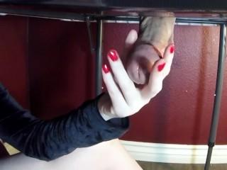 Sensual Milking Table Edging & Ball Grabbing