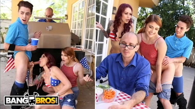 BANGBROS - 4th Of July Threesome With Monique Alexander  Adria Rae & JECL