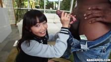 BANGBROS - Petite Asian Marica Hase Gets A Big Black Dick On MOC