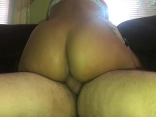 Doesnt get up as i cum inside her...