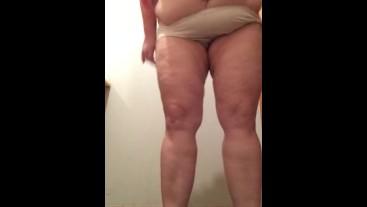 BBW Mature MILF Desperation Pissing Peeing Pants Panties