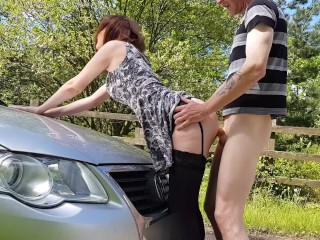 Public pick up car sex the great outdoors...