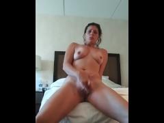 Masterbating alone at the Hilton