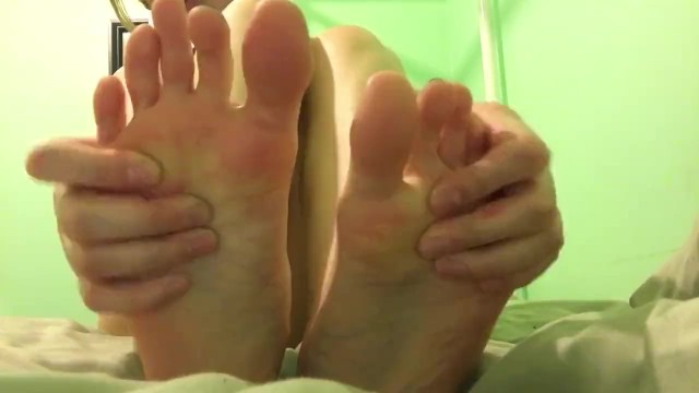 Teen Close Up Playing With Toes 1