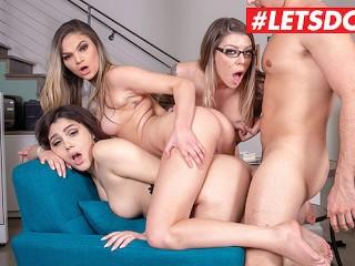 LETSDOEIT - Horny Secretaries Karma RX and Valentina Nappi Scam Their Boss