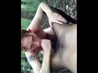 Me sucking j from grindr nude in public...
