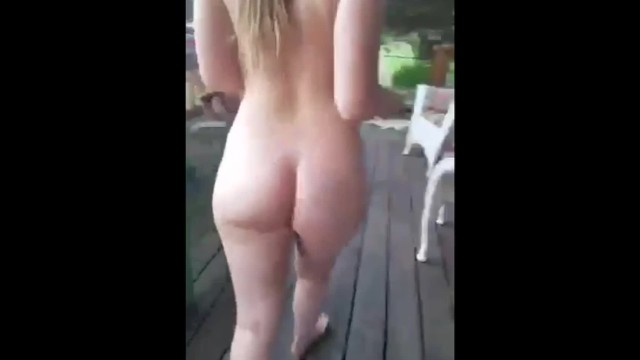 Bare ass naked girl photos 18 year old girl loves being naked at home where the neighbors can see