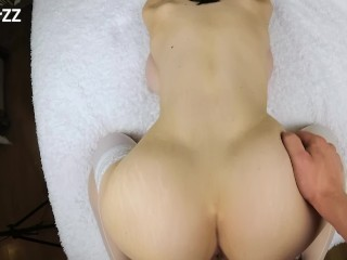 FUCKED TEEN BIG TITS GIRLFRIEND IN WET PUSSY AND TIGHT ASS -reverse cowgirl