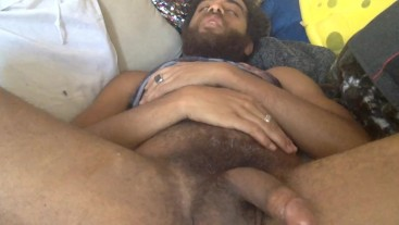 Wild Jerking and Cuming in Lion Tank top