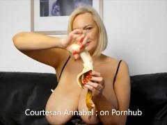 Annabel's Bank holiday banana tit wank